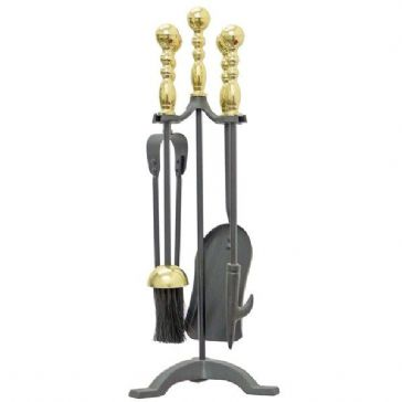 WESTMINSTER COMPANION SET BLACK AND BRASS (1179)